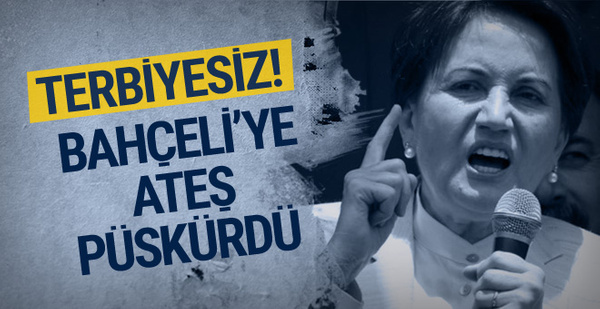 Meral Akşener'den Devlet Bahçeli'ye: Terbiyesiz!