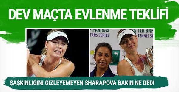 Türk seyirciden Maria Sharapova'ya evlenme teklifi