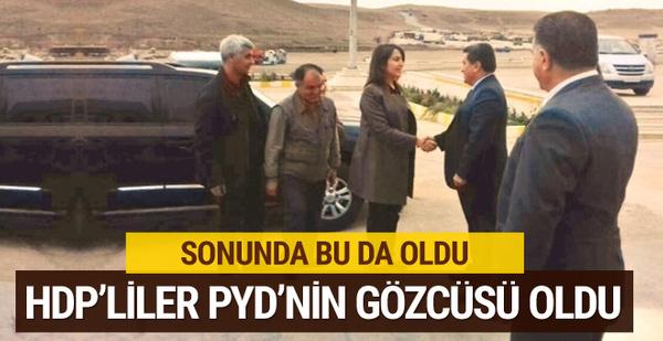 HDP bunu da yaptı! PYD'nin gözcüsü oldu