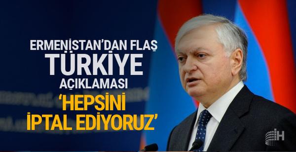 Ermenistan'dan ilginç Türkiye kararı iptal ettiler