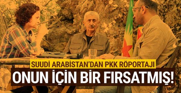 Suudi Arabistan gazetesinden PKK'lı teröristle röportaj!