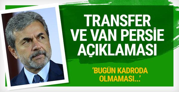 Aykut Kocaman'dan transfer ve Van Persie açıklaması!
