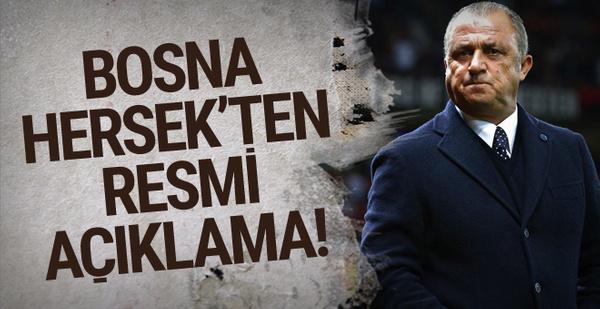 Bosna Hersek'ten Fatih Terim için resmi açıklama!