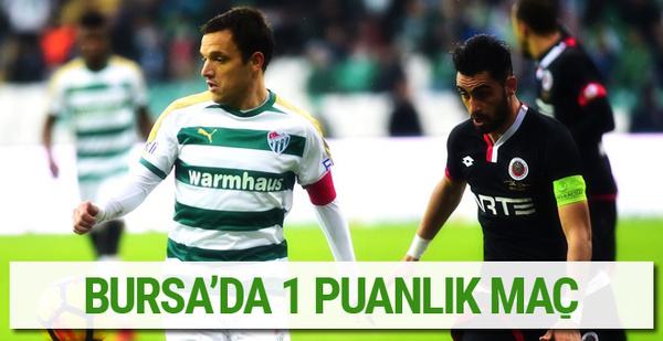 Bursaspor Gençlerbirliği maçı sonucu ve özeti