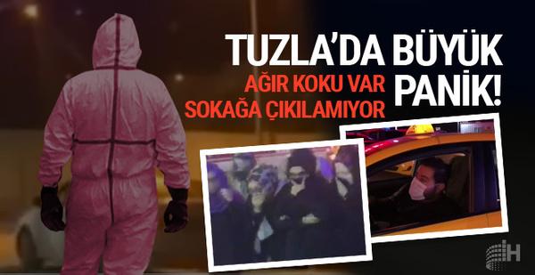 Tuzla'da kimyasal sızıntı paniği!
