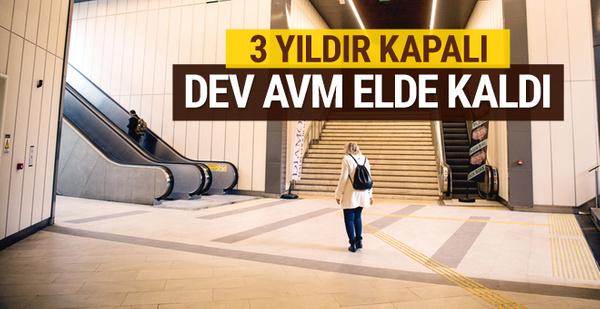 İstanbul'un göbeğindeki dev AVM elde kaldı! 3 yıldır kapalı