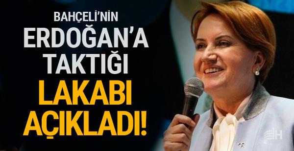 Akşener Bahçeli'nin Erdoğan'a taktığı lakabı açıkladı
