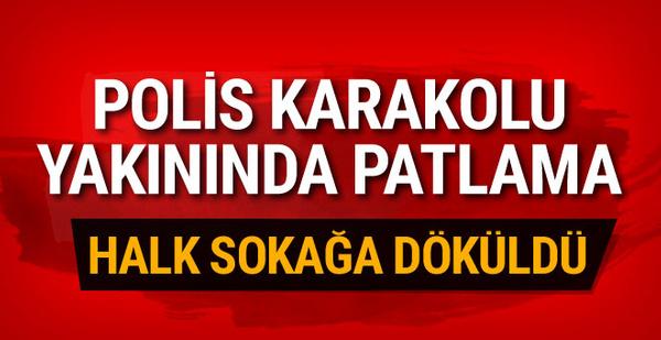 Adana'da polis karakolunun yakınında patlama