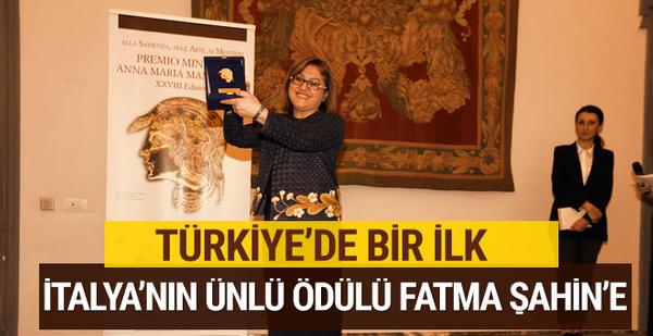 Türkiye'de bir ilk o ödül Fatma Şahin'e gitti