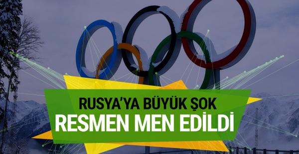 Rusya 2018 Kış Olimpiyatları'ndan men edildi