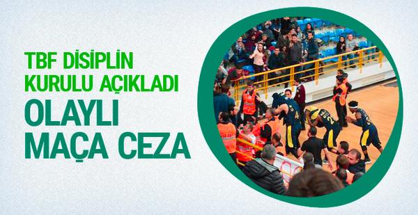 Olaylı Trabzonspor-Fenerbahçe maçına ceza