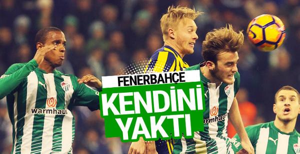 Bursaspor Fenerbahçe maçı geniş özeti