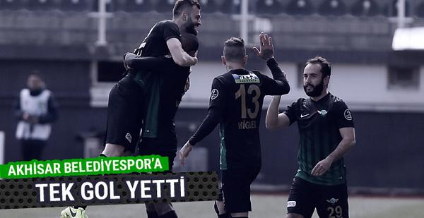 Akhisar Belediyespor 3 puanı tek golle aldı!