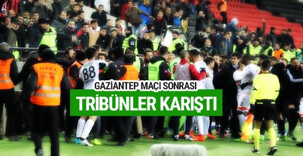 Gaziantep Arena'da tribünler karıştı