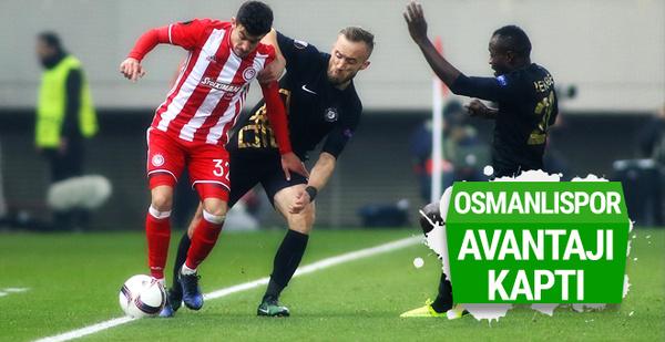 Osmanlıspor Avrupa Ligi'nde avantajı kaptı