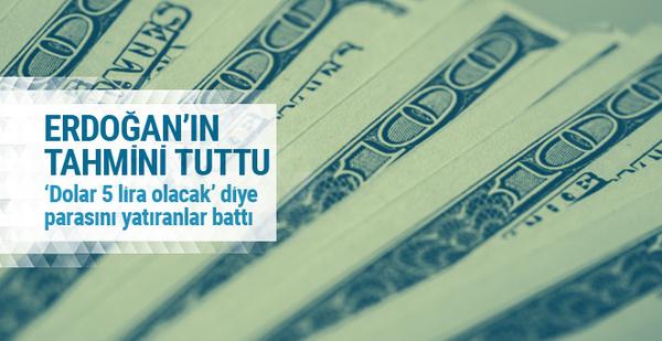 Erdoğan'ın dolar tahmini tuttu (23 Şubat 2017 dolar ne kadar oldu)