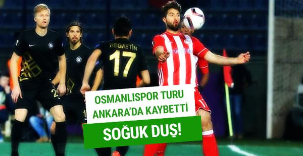 Osmanlıspor Avrupa'ya veda etti