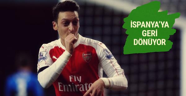 Mesut Özil İspanya'ya geri dönüyor