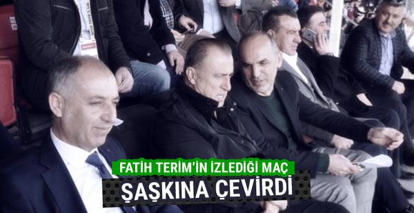 Fatih Terim'in tribünden izlediği maç şaşkına çevirdi
