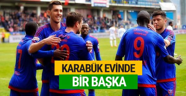 Karabükspor Tanase'nin golleriyle kazandı