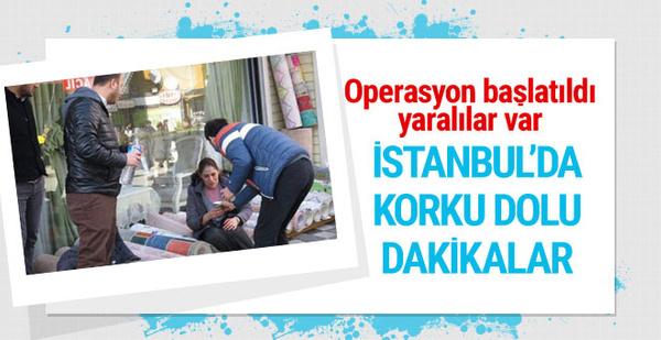 İstanbul'da korku dolu dakikalar yaralılar var