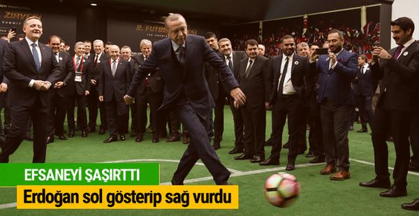 Cumhurbaşkanı Erdoğan'dan Marcel Desailly'e penaltı!