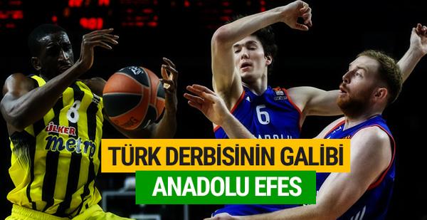 Kritik maçın galibi Anadolu Efes