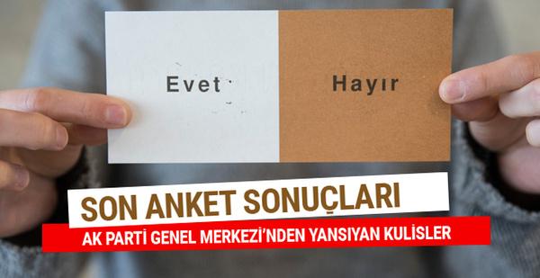 Son referandum anket sonuçları İstanbul'da 'evet' oyları...