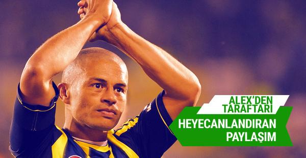 Alex de Souza'dan heyecanlandıran Fenerbahçe paylaşımı