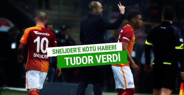 Sneijder'e kötü haberi Tudor verdi