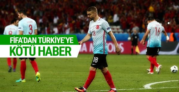 Türkiye FIFA sıralamasında 2 basamak geriledi