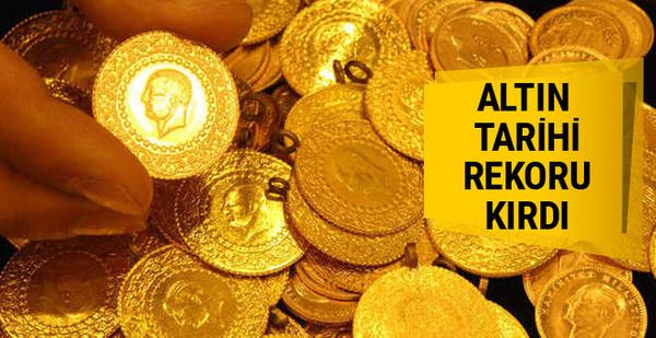 Altın fiyatları coştu Cumhuriyet altını rekor kırdı