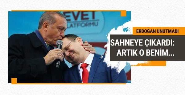 Erdoğan 15 Temmuz kahramanını sahneye çıkardı