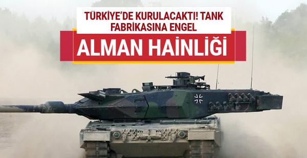 Almanya Türkiye'deki tank fabrikasına taş koyuyor