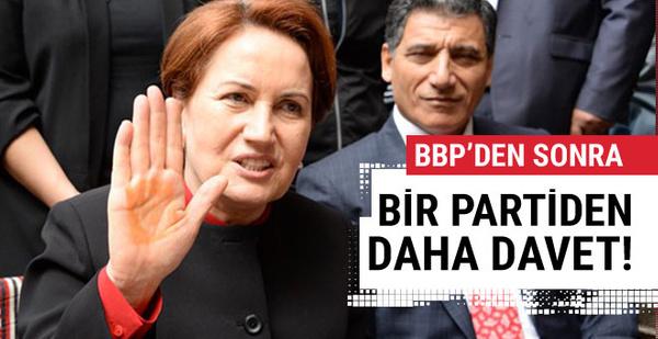 BBP'den sonra Akşener'e bir partiden daha çağrı!