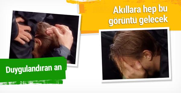 Beşiktaş maçında duygulandıran an