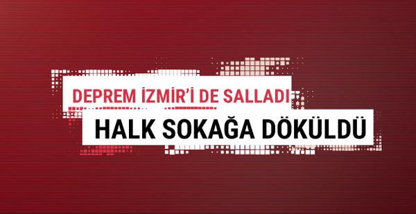 Manisa depremi İzmir'i fena salladı şehir sokakta!