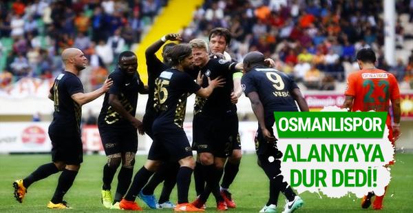 Alanyaspor - Osmanlıspor maçı sonucu ve özeti