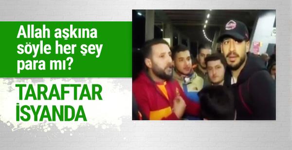 Galatasaray taraftarından Tolga Ciğerci'ye tepki