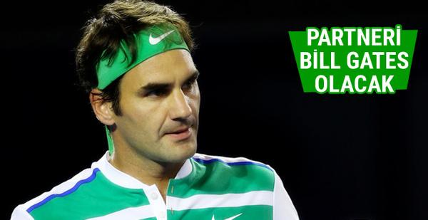 Federer'in partneri Bill Gates olacak