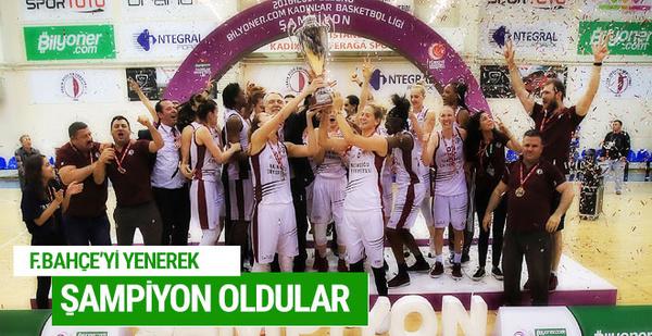 Fenerbahçe'yi yenerek şampiyon oldular