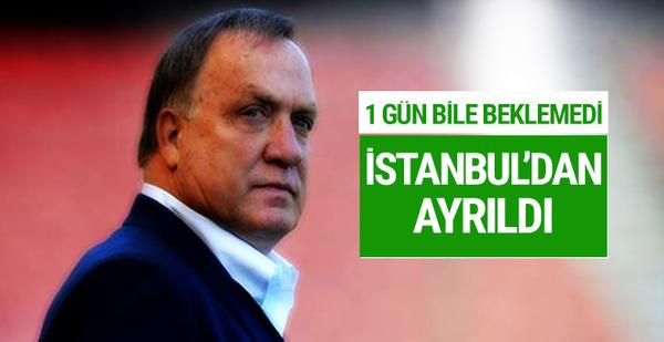 Flaş! Advocaat İstanbul'dan ayrıldı!