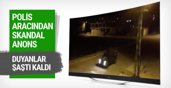Polis aracından skandal Dursun Özbek anonsu