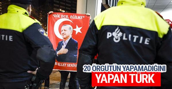 Hollanda'da 20 örgütün yapamadığını yapan Türk!