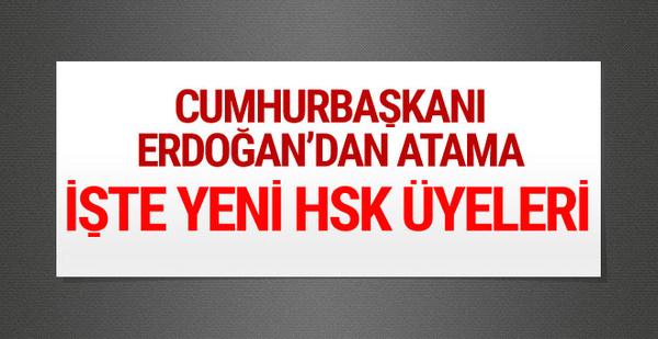 Cumhurbaşkanı Erdoğan'dan HSK'ya atama