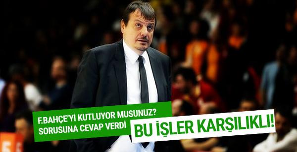 Ergin Ataman'dan Fenerbahçe'ye gönderme