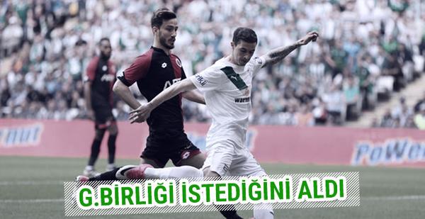 Bursaspor-Gençlerbirliği maçı sonucu ve özeti