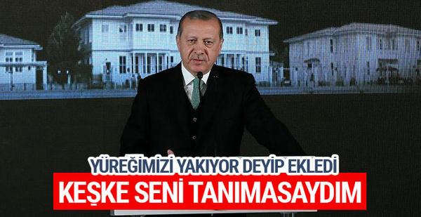 Cumhurbaşkanı Erdoğan: Keşke seni tanımasaydım