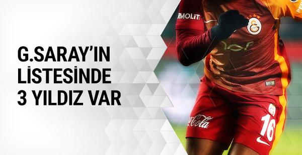 Galatasaray'da transfer harekatı! 3 yıldız geliyor