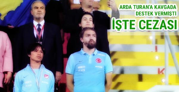 Arda Turan'a destek veren Caner Erkin'in cezası